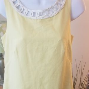 Lilly Pulitzer Lovell shift dress yellow and white